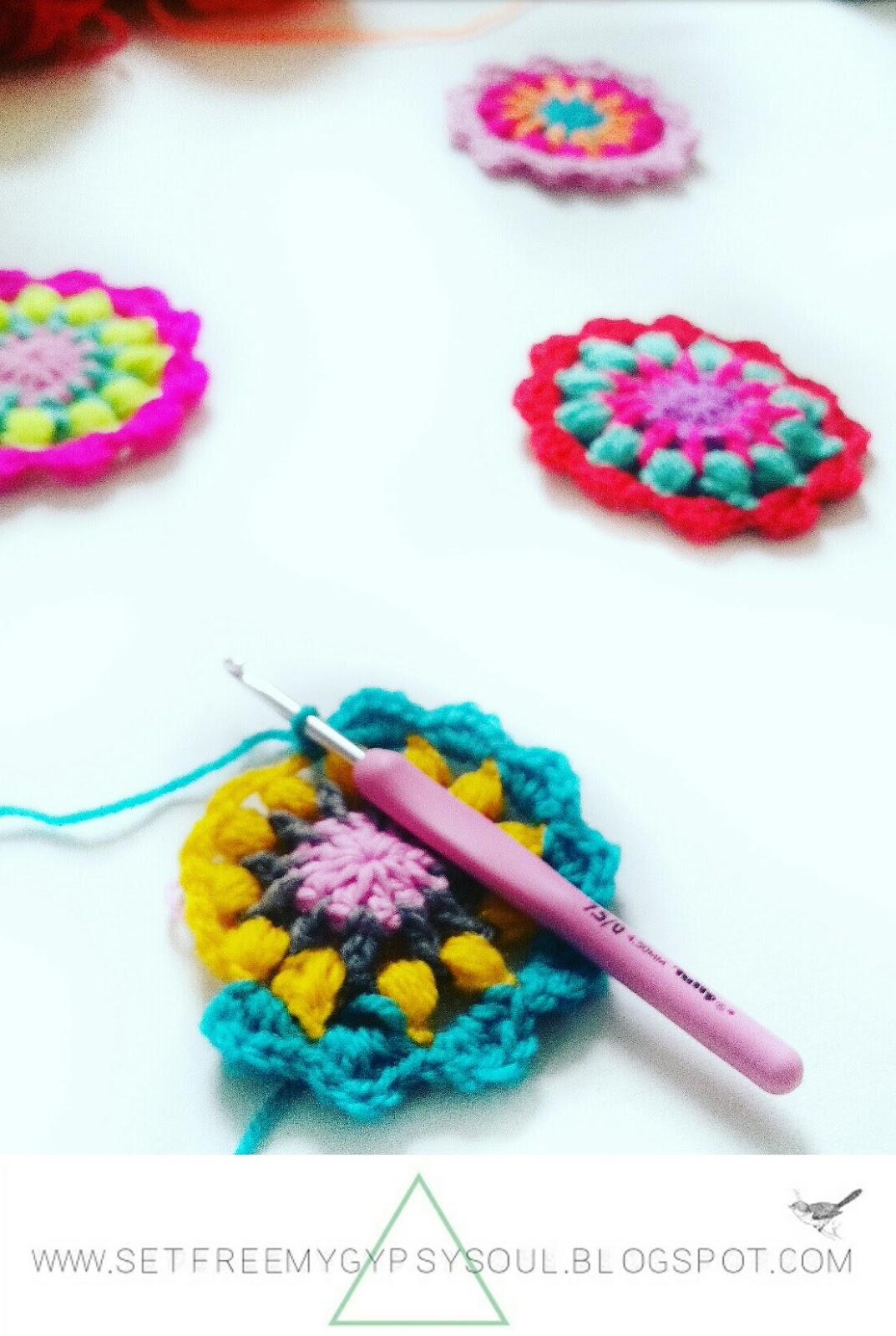 free mini mandala crochet pattern easy fast beginner