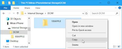 Cara Memindahkan Foto dari iPhone ke PC/Laptop - copy dan paste