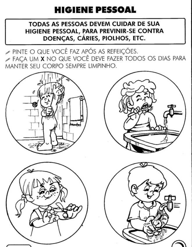 Suficiente Higiene Pessoal para Educação Infantil - Atividades Pedagógicas QF24