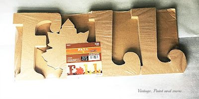 Vintage, Paint and more... wood letters to make a decoupaged fall sign
