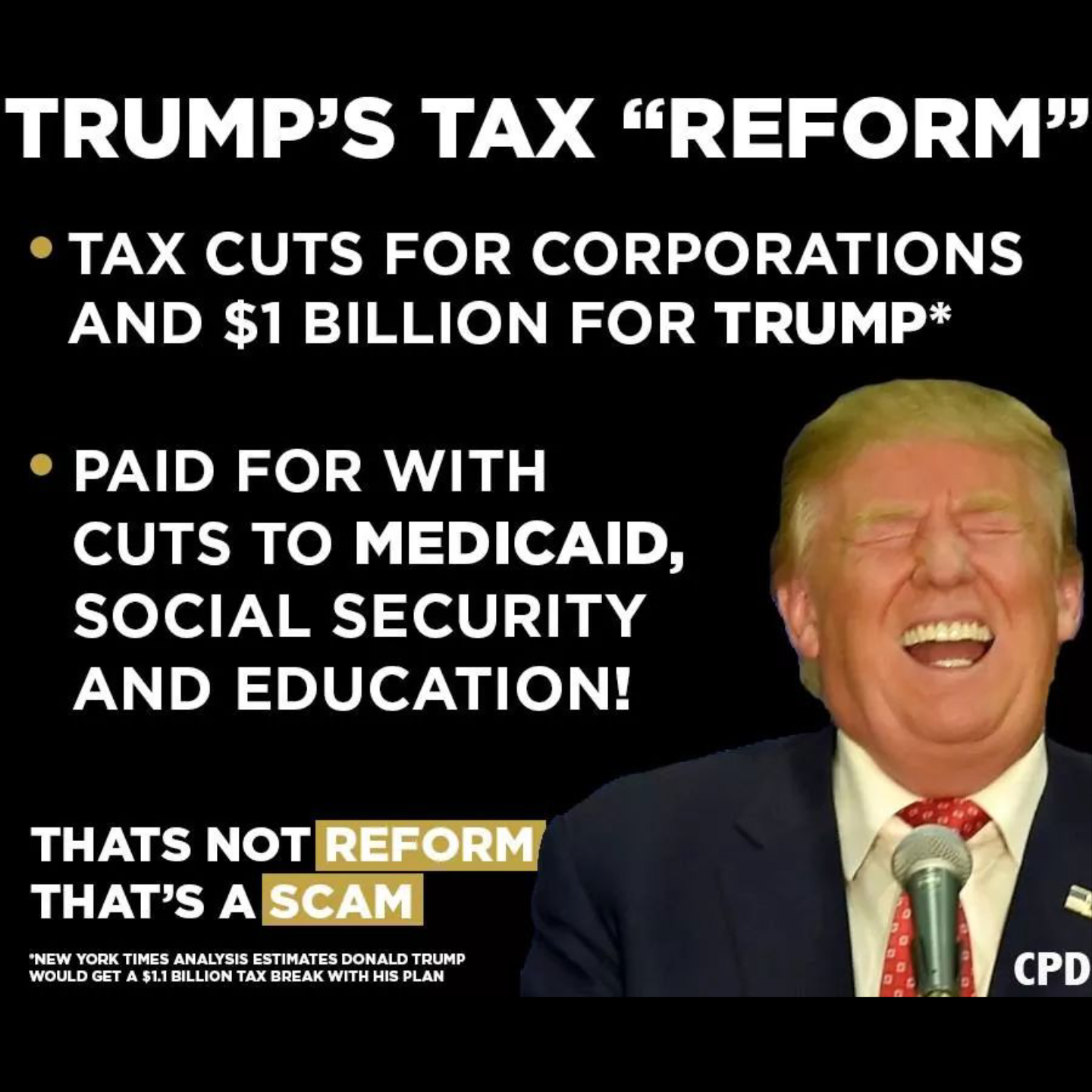commit to fully repealing the immoral unjust and job killing trump tax scam in the next congress with no exceptions and replace it with a plan