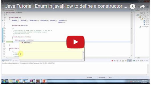 Java Tutorial: Enum in java[How to define a constructor in enum]