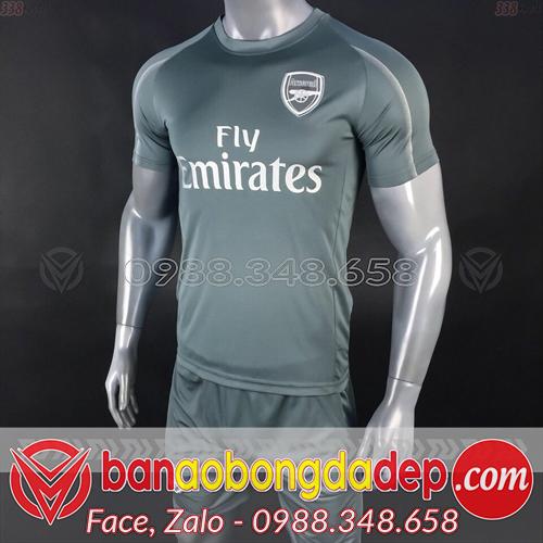Áo bóng đá CLB Arsenal 2019 Training màu xám
