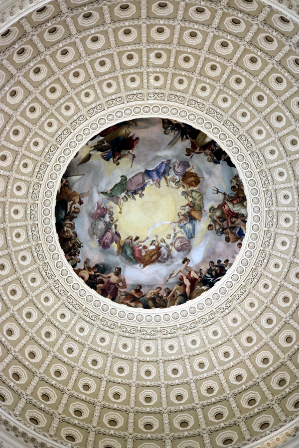 Inside of the Capitol Building dome, The Apotheosis of Washington - Washington, D.C. - Tori's Pretty Things Blog