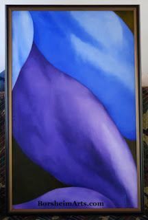 Legs in Purple and Blue Abstract painting of Human Figure