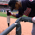 Francesco Lindor struggles getting donut off his bat (Video)