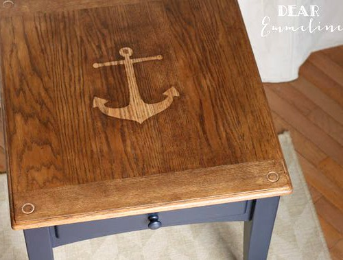 Stained Nautical Anchor Table