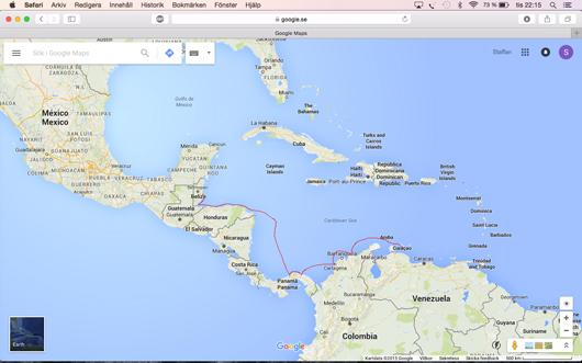 belize karta s/y Balance: Cuaracao till Belize belize karta