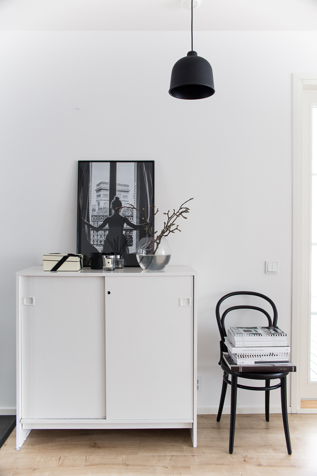 Villa H, eteisen sisustus, magnolian oksa, interior, hallway interior