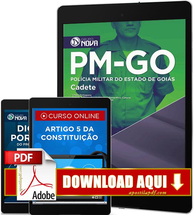 Apostila PM GO 2016 PDF Download Cadete Polícia Militar Goiás