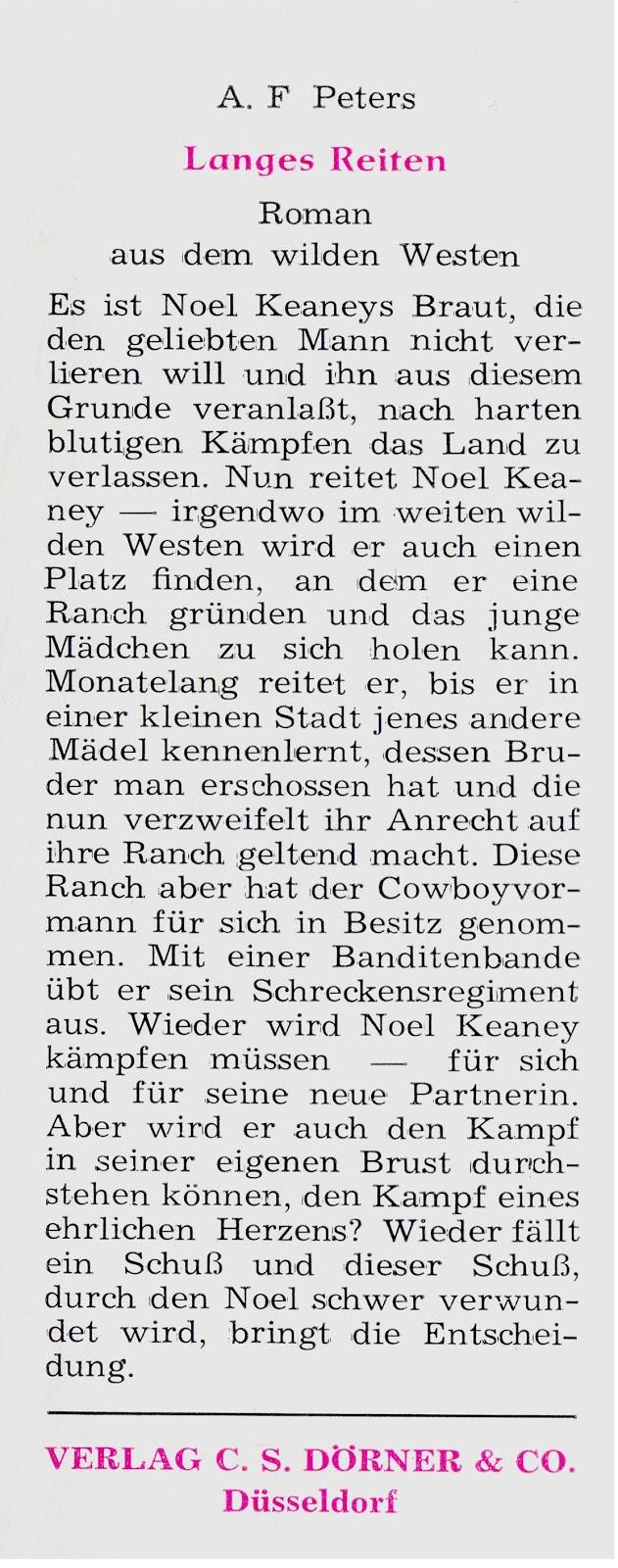 Leihbuchregal - Eine Bibliographie deutschsprachiger Leihbücher ...