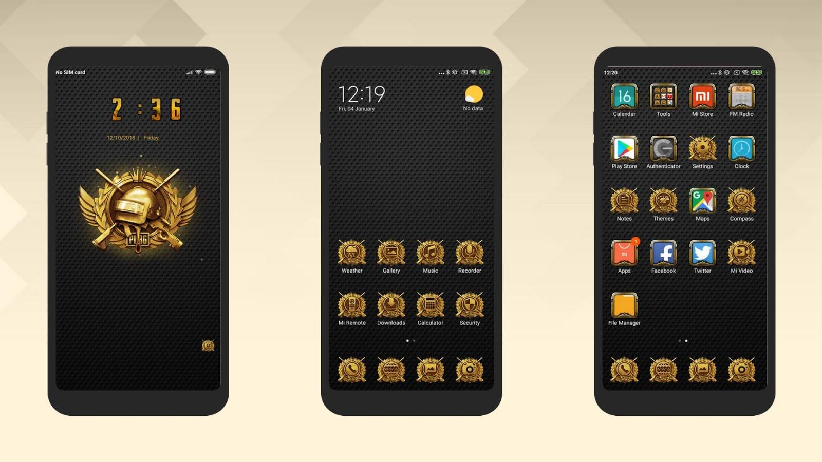 PUBG Themes for MIUI v10 | Xiaomi Theme