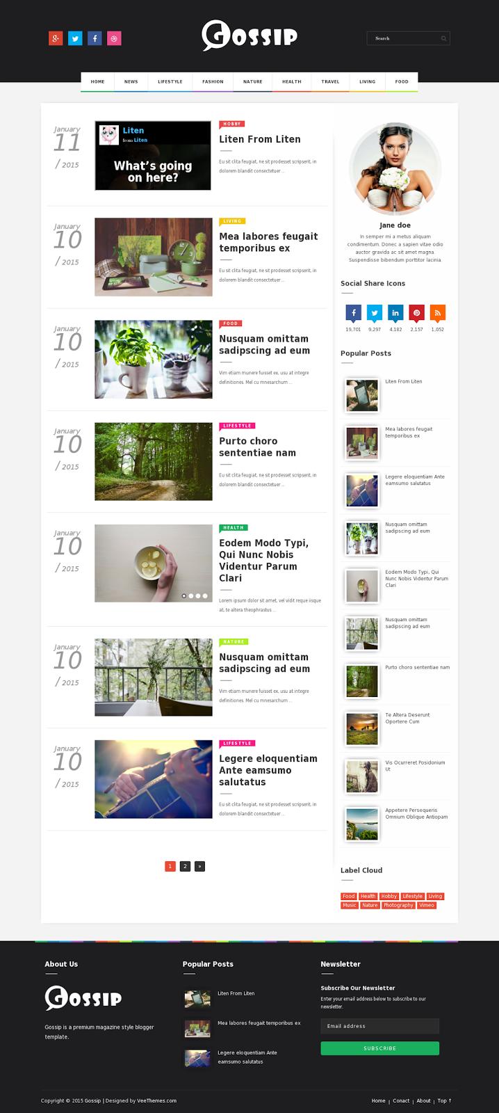 Celebrity Gossip, News & Blog WordPress Theme   InkThemes