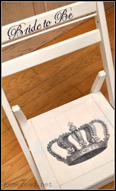 bride to be chair with crown