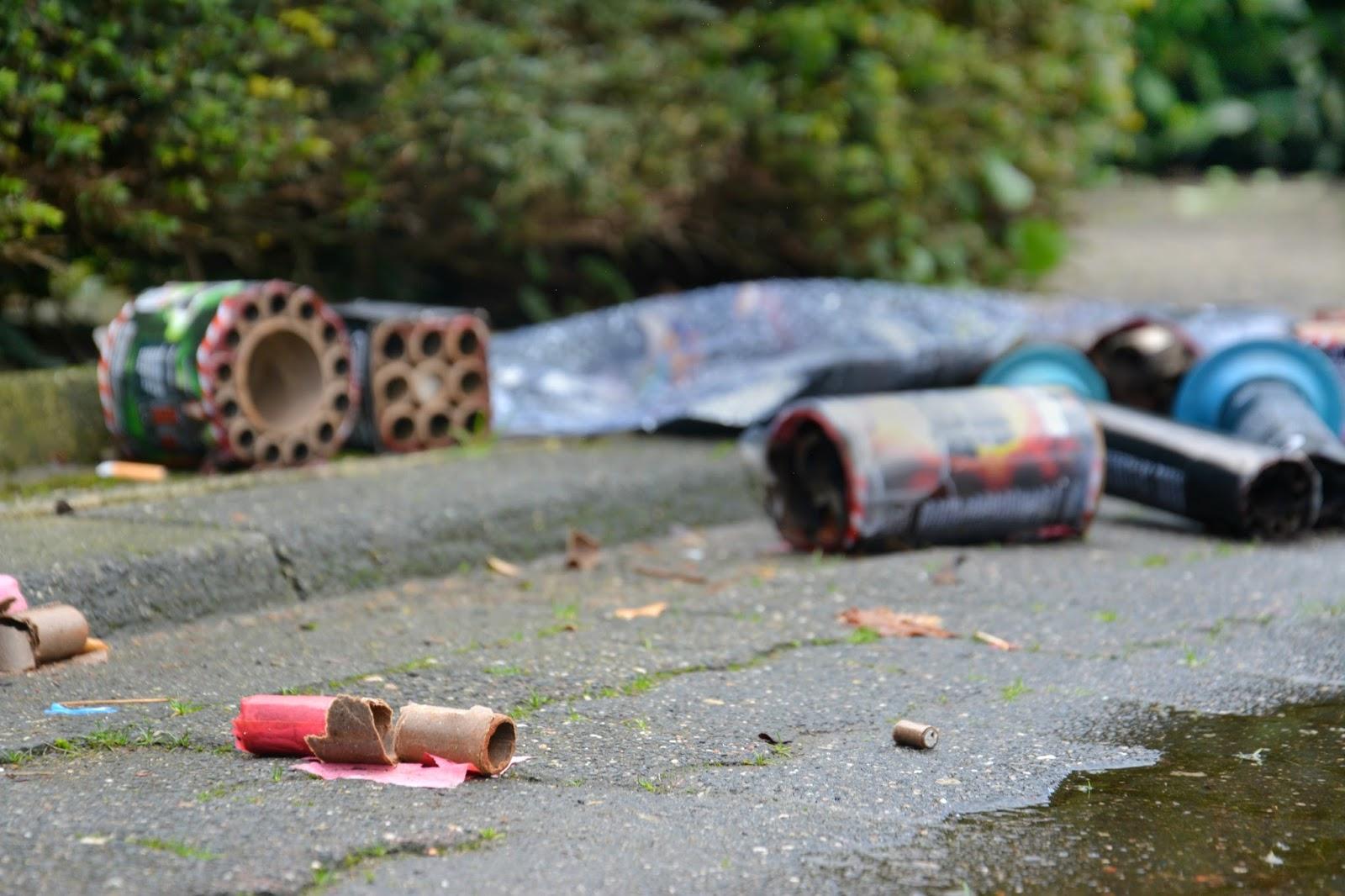 Firework Packaging Left On The Street