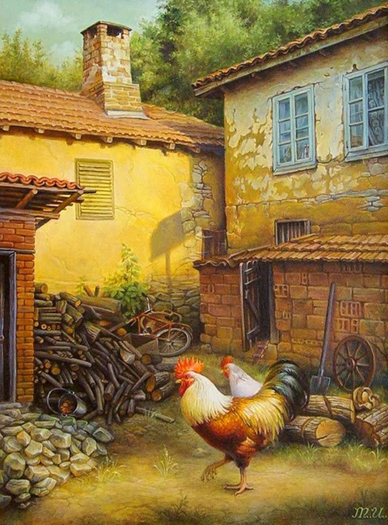 Cuadros modernos pinturas y dibujos animales de granja - Cuadros estilo colonial ...
