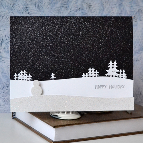 Craft Fancy: Happy Holidays Card using Craft Fancy Exclusive Dies From Memory Box by Margie Higuchi