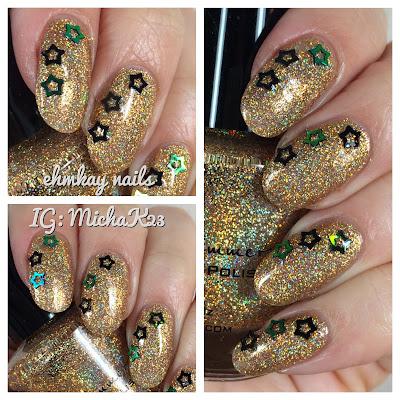 ehmkay nails new year's eve nails kbshimmer sun  games