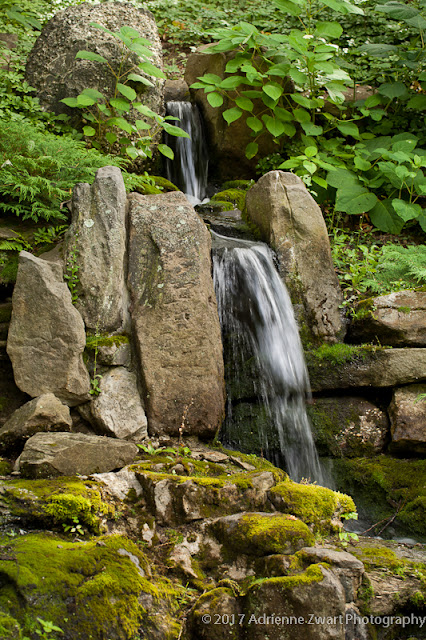 waterfall at Stan Hywet Hall and Gardens - photo by Adrienne Zwart