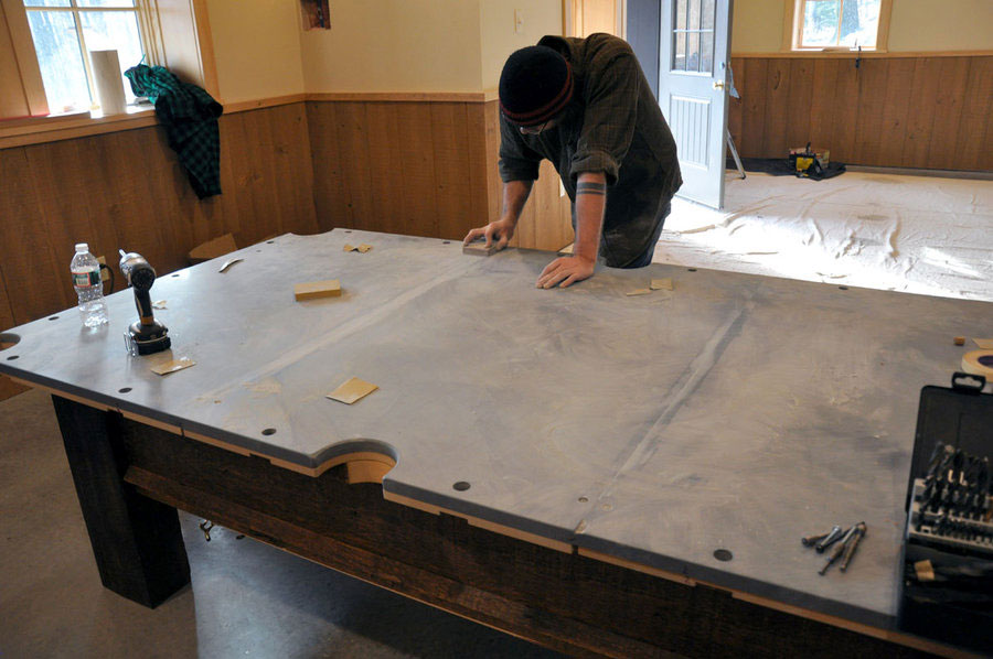 DIY Outdoor Pool Table - Composite pool table