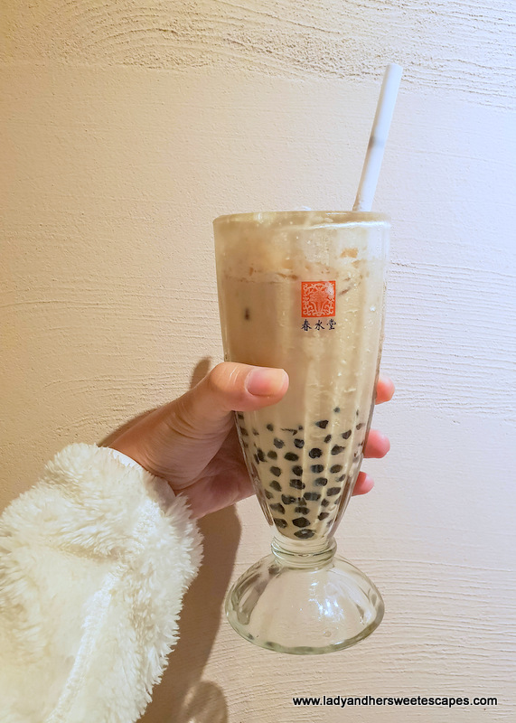 Chun Shui Tang bubble milk tea