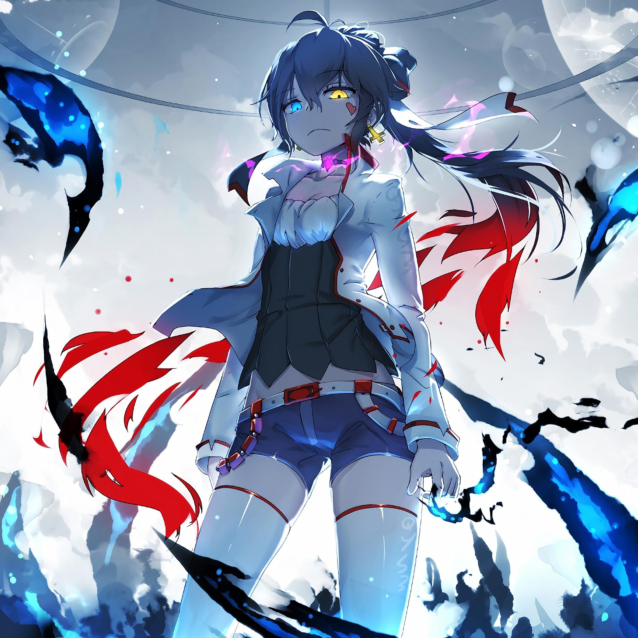 Anime, Girl, Pixiv Fantasia, Flaming, 4K, 3840x2160, #23 ...