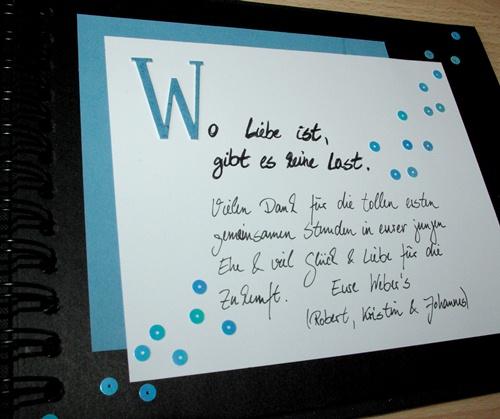 Berühmt KW-Eselsohr: Gästebuch für Hochzeit GF76