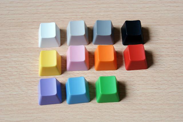 WASD keyboards, posibles colores de las teclas (keycaps)
