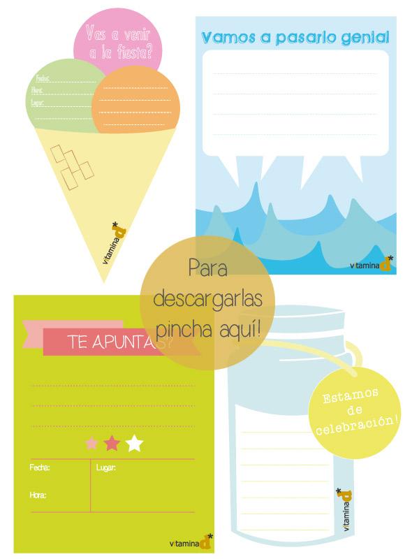 imprimible invitaciones verano