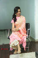 Actress Ritu Varma Pos in Beautiful Pink Anarkali Dress at at Keshava Movie Interview .COM 0222.JPG