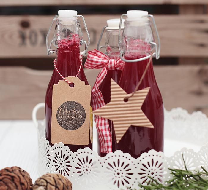 Preiselbeersirup Cranberry Sirup Geschenk aus der Küche