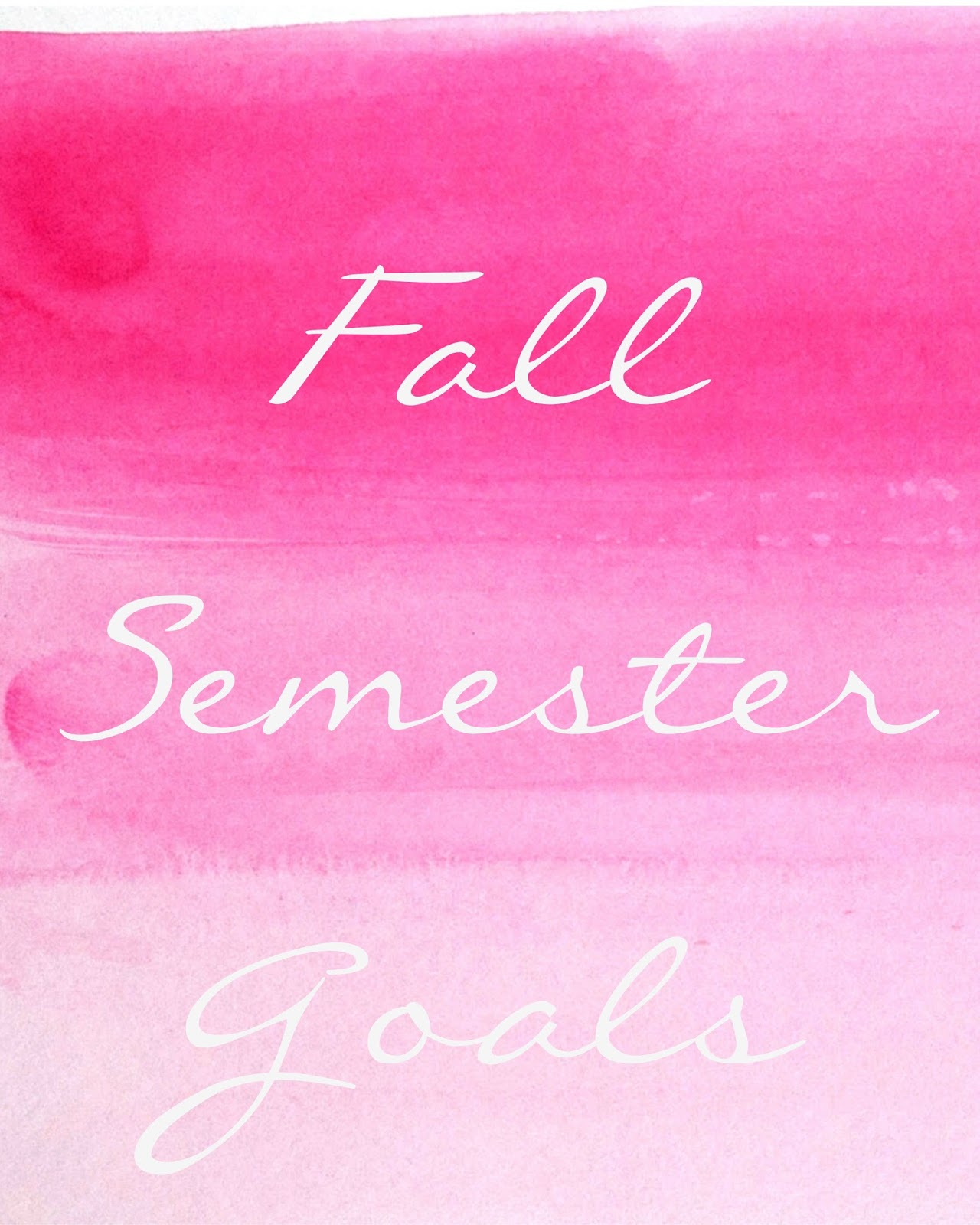 Le Northern Belle | Fall Semester Goals for College Life