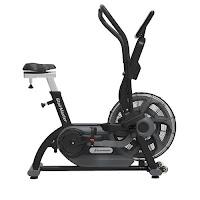 StairMaster AirFit Exercise Bike, hammertone black,  commercial-grade air/fan exercise bike