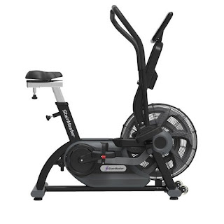 StairMaster AirFit Exercise Bike, hammertone black,  commercial-grade air/fan exercise bike, picture, image, review features & specifications