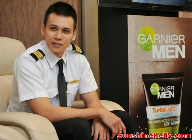 Garnier Men Be In Control, Garnier Men Turbo Light Oil Control, Garnier Men, Turbo Light Oil Control, be in control, simflightkl, subang skypark, garnier, Pilot Captain M Danial Tajuddin
