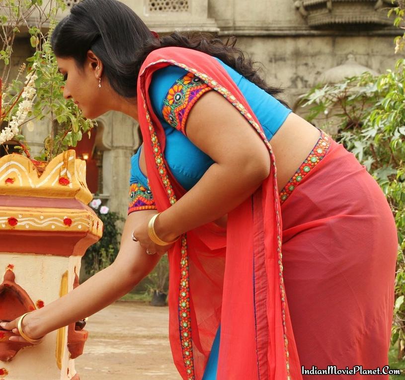 poonam bajwa hot beautiful pink saree stills aranmanai