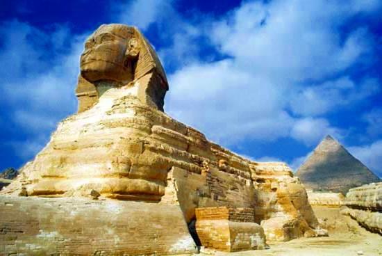 La Gran Esfinge en Giza, Egipto.
