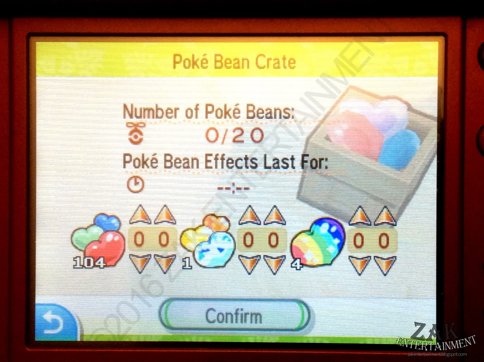 how to move beans in pokemon sun