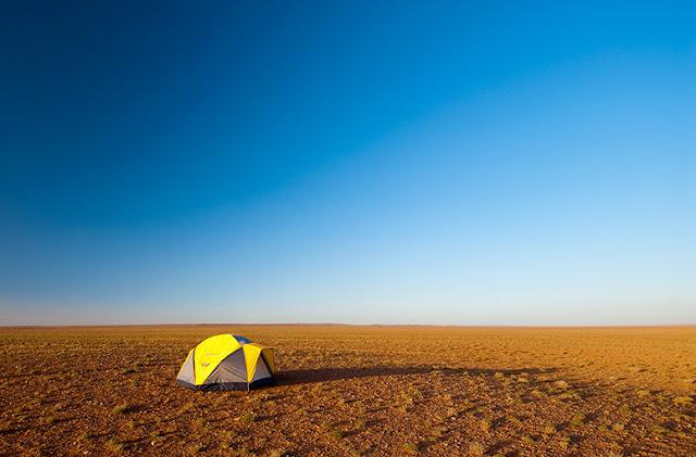 Tent. Gobi Desert.