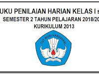 Format Buku Daftar Nilai Harian Kurikulum 2013 Kelas 1 s/d 6 Excell