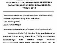 Amanat Menko Polhukam di Upacara Bela Negara 2018 (resmi)