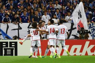 اهداف مباراة الامارات واليابان 2-1   تصفيات كأس العالم 2018
