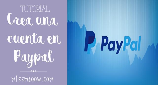 Crea una cuenta en Paypal