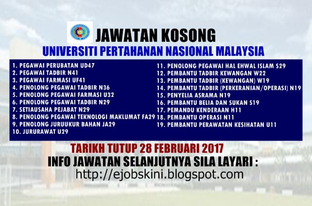 Jawatan Kosong UPNM