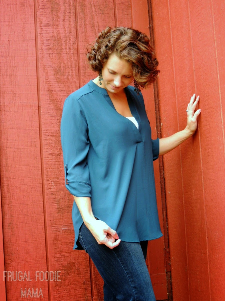 Budget Friendly, NYC Chic Fall Fashion from Necessary Clothing via thefrugalfoodiemama.com - Keep It Simple Blouse