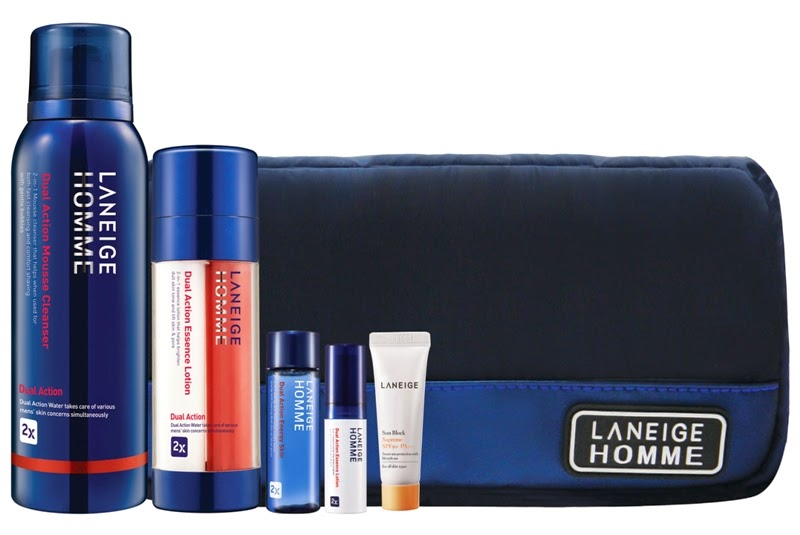 Laneige Dual Action Holiday Set for HIM, Gift Set, Laneige 2014 Holiday Collection, Laneige, Holiday Set, Christmas Set, Skincare, Makeup, Beauty