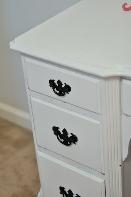 painted black handles