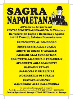 Sagra Napoletana dal 28 luglio al 6 agosto Senago (MI)