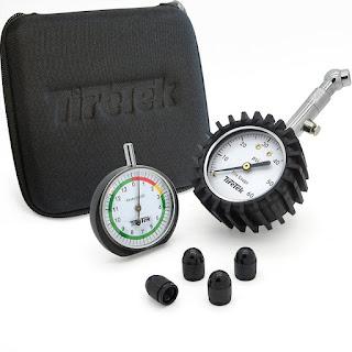 TireTek Auto Gift Set - Premium Tire Pressure Gauge, Tread Depth Gauge & Caps
