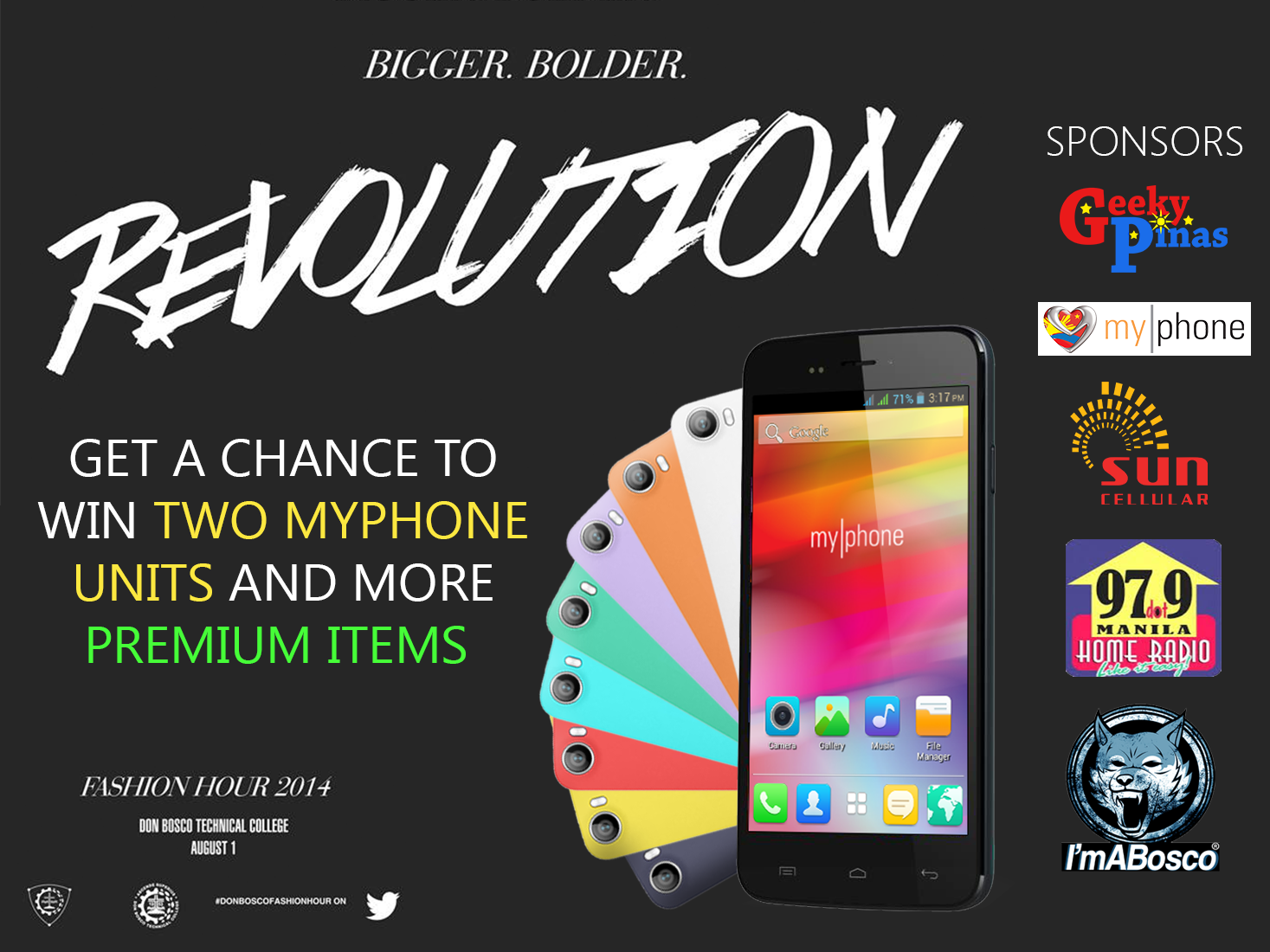 Don Bosco Fashion Hour 2014: Revolution - Win (2) MyPhone Units & More Premium Items!